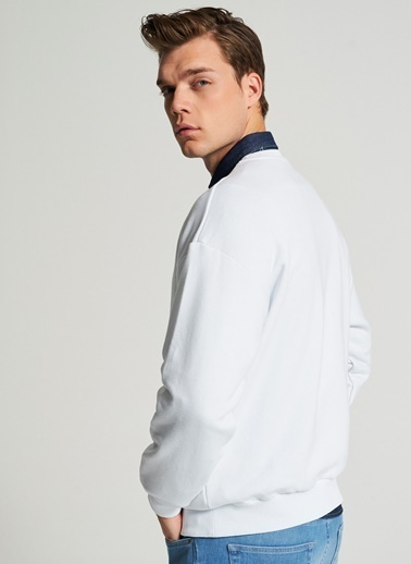 Pi π Oversize Sweatshirt Beyaz